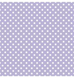 Tile pattern with white polka dots on violet blue vector image