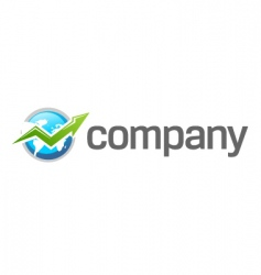 world finance growth logo vector image