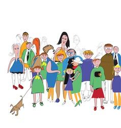 crowd color vector image