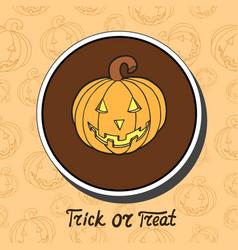 Pumpkin on halloween background vector