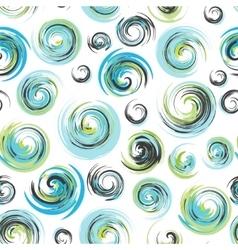 Swirls drawn seamless swirl pattern Dry brush vector image