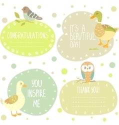 birds stickers vector image vector image