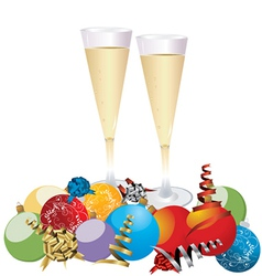 Champagne Celebration Glasses vector image vector image