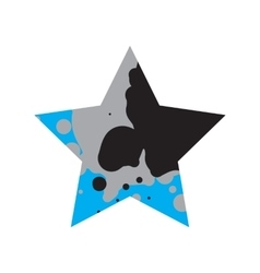 Grunge Black And Blue Star vector image vector image
