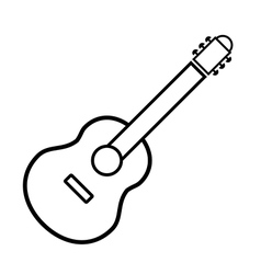 Guitar sign button vector image vector image