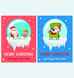 list of gifts merry christmas vector image