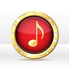 Music icon vector image