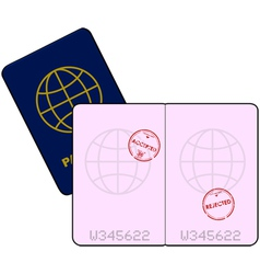 Stamped Passport vector image