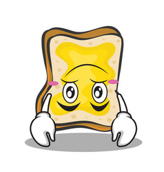 upside down face bread character cartoon vector image vector image