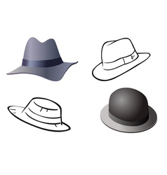 hats old collection vector image vector image