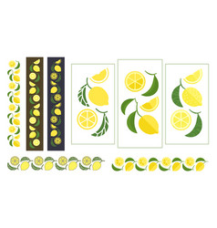 lemon colored ornament vector image vector image
