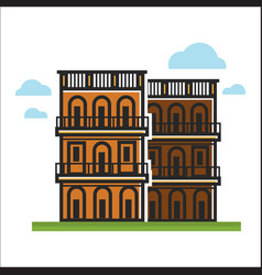 Modern city houses vector