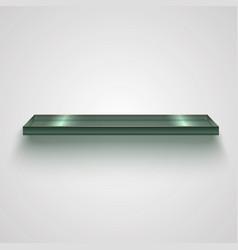 realistic glass shiny shelf vector image
