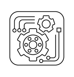 tools icon in outline style for web or app design vector image vector image