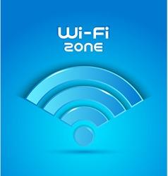 3d icon wi fi zone vector