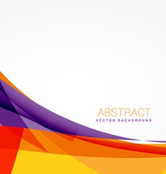 abstract colorful background with shapes vector image vector image