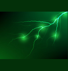 Abstract green lightning effect background vector