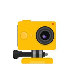 Action camera vector