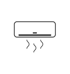 air conditioner icon design template isolated vector image