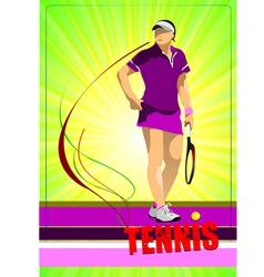 Al 0344 tennis poster 03 vector