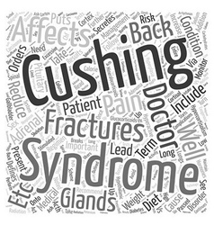 Back Pain and Hypercortisolism Word Cloud Concept vector
