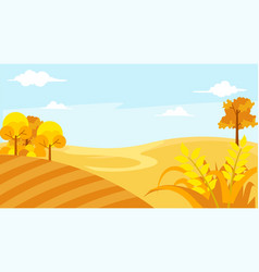 Beautiful landscape with blue sky vector