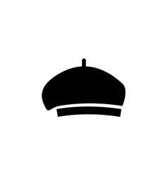 beret icon on white background clothing or vector image