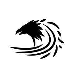 black raven icon vector image