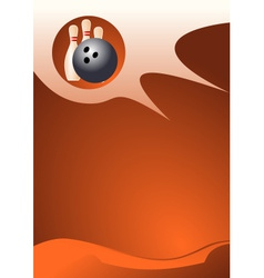Bowling sport background vector