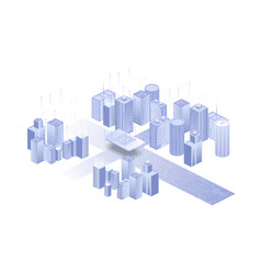 Building on white background network sim icon vector