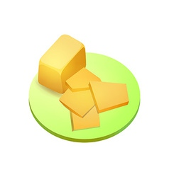 Cheddar cheese vector