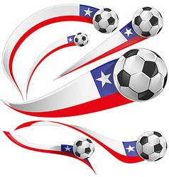 chile flag with soccer ball vector image