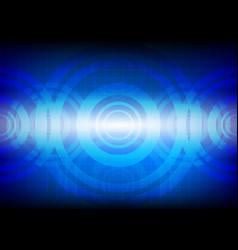 Circle technology pattern dark blue background vector