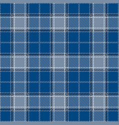 Classic blue and white tartan plaid seamless vector