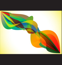 colorful flame vector image