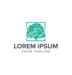 creative luxury tree logo concept design templates vector image