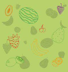 cute fruits background pattern vector image