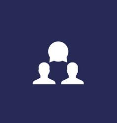 debate icon vector image