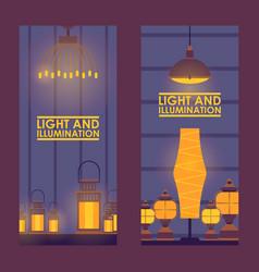 Decorative lamp store vector