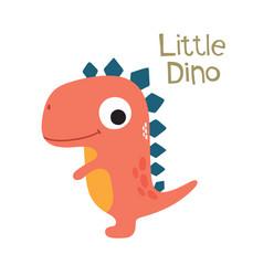 Doodle cute dinosaur vector