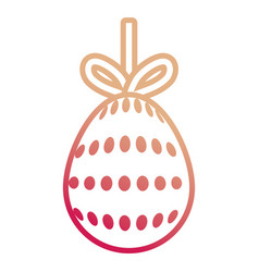 easter egg pendant with dots de vector image