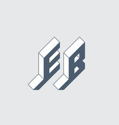 Eb - 2-letter code e and b - monogram or logotype vector