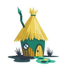 fairytale house cartoon house in shape of vector image