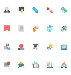 Flat education icons 7 vector