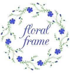 Floral frame wreath design element vector image