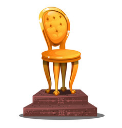 golden statuette in the form of a vintage chair on vector image