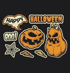 halloween sticker pack vector image