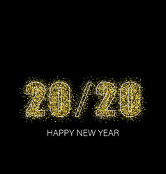 happy new year shining background with gold and vector image