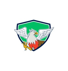 Hippogriff with talons shield cartoon vector