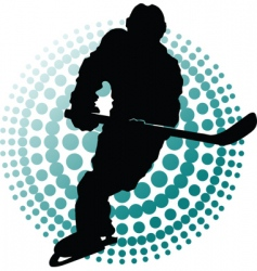hockey players vector image